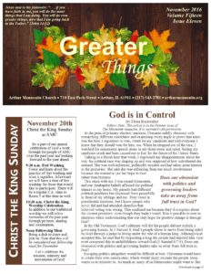 Greater Things November 2016